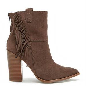 Brown Fringe Bootie- Kaiya